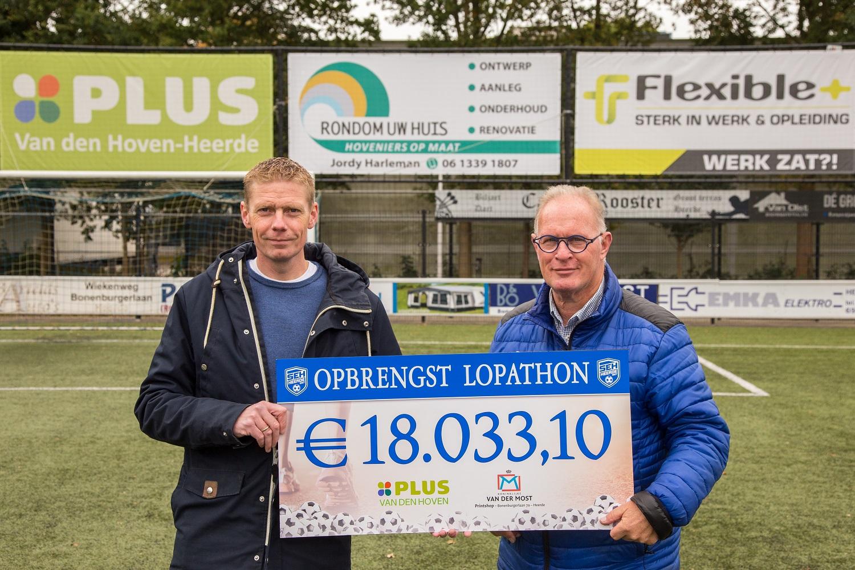 Plus Van den Hoven Lopathon levert 18 duizend euro op!